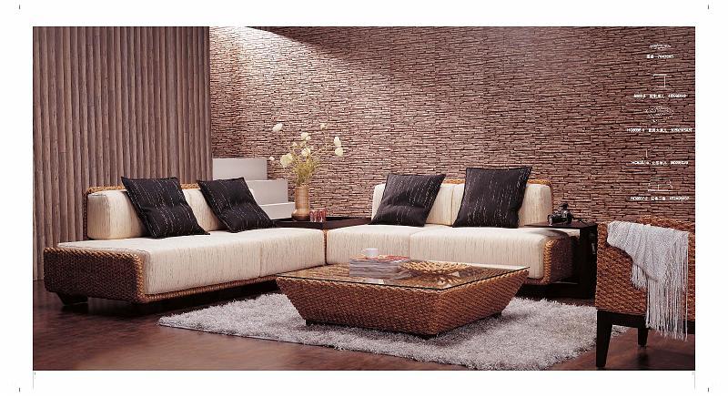 Rattan Indoor Sofa Set | Centerfieldbar.com